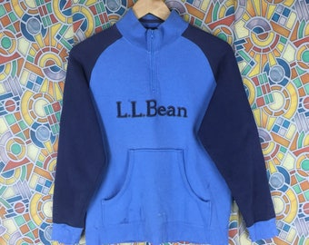 rare ! vintage l.l. bean big logo spellout pullover jumper crewneck sweatshirt