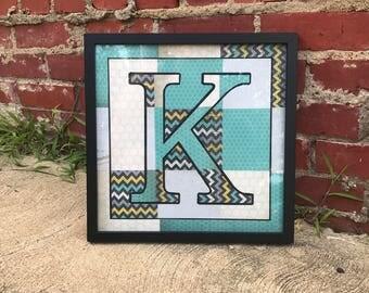 Letter Art for Child's Room
