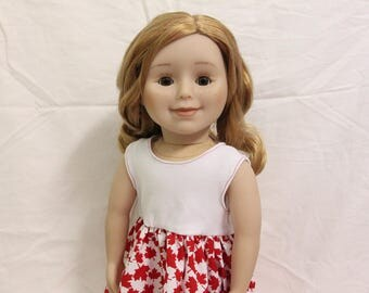 "150th Birthday of Canada Dress For 18"" Dolls"