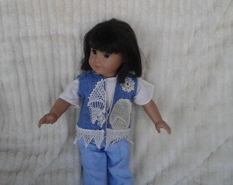 denim vest for 18 inch doll