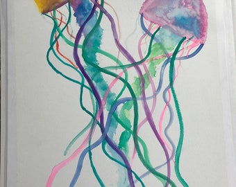 Jellyfish Watercoloe
