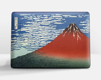"Laptop skin (Custom size). Hokusai, ""South Wind, Clear Sky"". Laptop cover, HP, Lenovo, Dell, Sony, Asus, Samsung etc."
