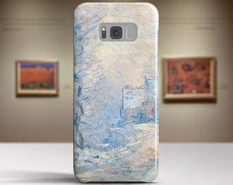 "Claude Monet, ""The Road to Giverny in Winter"". Samsung Galaxy S8 Plus Case LG V30 case Google Pixel Case Galaxy A5 2017 Case."
