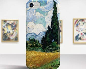 "Vincent Van Gogh, ""Wheat Field with Cypresses"". iPhone 7 Case Art iPhone 6 Case iPhone 8 Plus Case and more. iPhone 7 TOUGH cases."