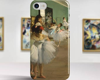 "Edgar Degas, ""The Dance Class"". iPhone 8 Case Art iPhone 7 Case iPhone 6 Plus Case and more. iPhone 8 TOUGH cases. Art iphone cases."
