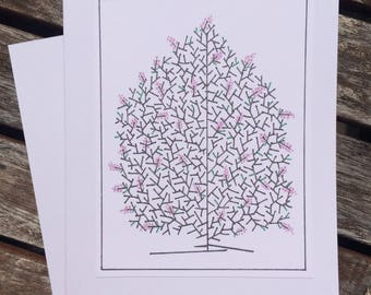 Lilac Bush Note Card