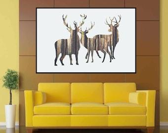 Deer, Deer Antler, Deer Antlers, Deer Print, Deear Head, Antlers, Deer Decor, Antler, Deer Poster, Deer Print, Nursery Decor, Deer Poster