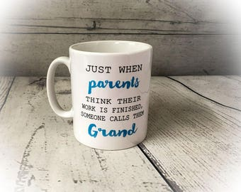 Ceramic Mug - Grandparents - Pregnancy Announcement - GIFT - New Baby