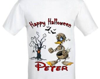 Donald duck Halloween t-shirt, Boy's Donald duck shirt, Donald duck mummy halloween shirt, custom halloween shirt,Boys halloween shirt.