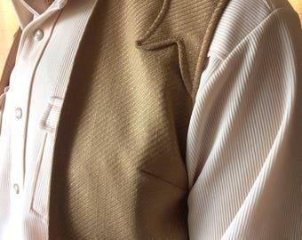 Mens vintage western vest by Lasso size M-L. Rockabilly hipster cowboy