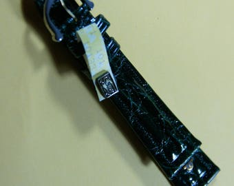 The Swiss brand watchband Maurice Lacroix exotic leather: 20 mm genuine crocodile