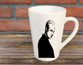 Spike Buffy the Vampire Slayer Horror Mug Coffee Cup Halloween Gift Home Decor Kitchen Bar Gift for Her Him Any Color Personalized Custom