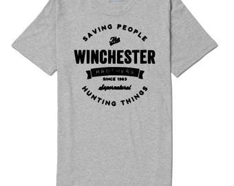 Supernatural Winchester Brothers Hunting Unisex T Shirt Many Sizes Colors Custom Horror Halloween Merch Massacre