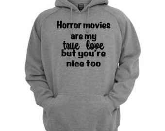 Horror Movies True Love Valentines Unisex Hoodie Pullover Hooded Sweatshirt Many Sizes Colors Custom Horror Halloween Merch Massacre