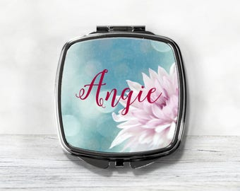 Personalized Compact Mirror - Custom Wedding Party Gift - Bridesmaid Compact