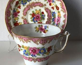 Old Royal China Pink Teacup and Saucer no 2878