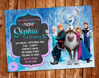 Frozen Invitation, Frozen Birthday Invitation, Frozen Birthday Party, Princess Elsa Invitation, Elsa Invitation, Digital Invitation, Disney