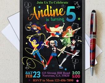 DC Superhero Girls Invitation/DC Superhero Girls birthday/Superhero Girl Invitation/Superhero Girl Birthday/Superhero Girl Party/Superhero