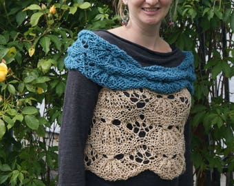 Savory Island Clammer Designed and Hand Knit by Roisin Sheehy-Culhane