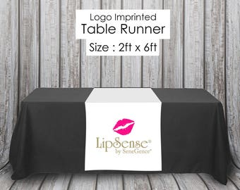 LipSense White Table Runner for Independent Distributor - Quick Turnaround - LipSense Table Cloth - LipSense Table Sign - Popup Party