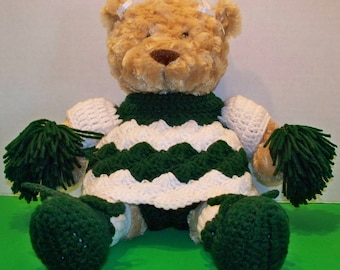 Teddy Bear Wearing a Cheerleading outfit