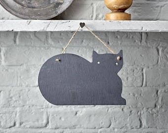 Cat Slate Chalkboard