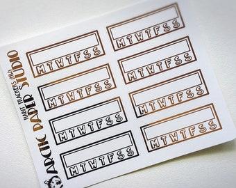 Habit Tracker (HW) - FOILED Sampler Event Icons Planner Stickers