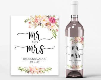 wine label template etsy. Black Bedroom Furniture Sets. Home Design Ideas
