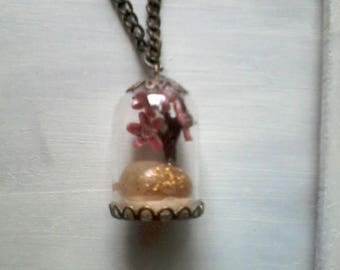 dome pendant glass and cherry blossom branch