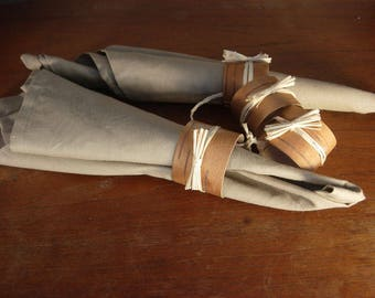 Birch Bark Napkin Rings