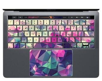 MacBook Keyboard MacBook Decal MacBook Keypad Stickers Low Poly Texture Key Decals MacBook Skin Geometric Pattern MacBook Air Polygon KP107