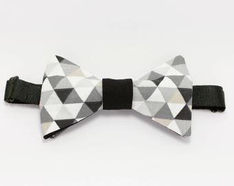 "Bow tie black and white graphic ""Melancholy"""