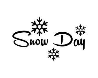 Snow day clip art | Etsy
