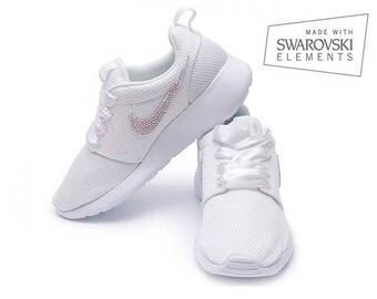 Nike Rosherun Swarovski AB White