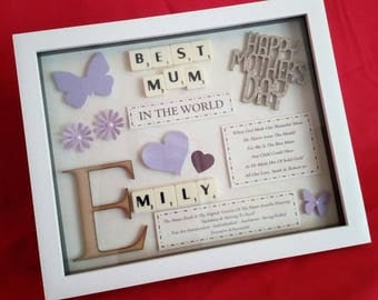 PERSONALISED MOTHER'S DAY Picture Frame Keepsake Gift