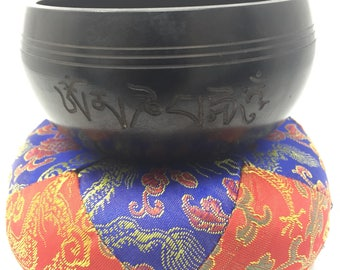 Plain Solid black Singing Bowl