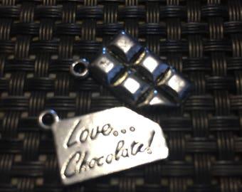 I love chocolate charm necklace