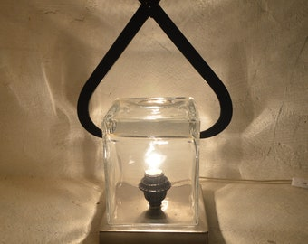 Ice block lamp