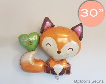 "Fox Welcome Baby Balloon | 36"", celebration, baby, shower, new born"