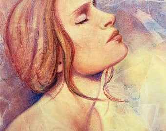 "Daily Painting - ""Selah"" Original art by Netty Kozlovsky. Watercolour and Pastel."