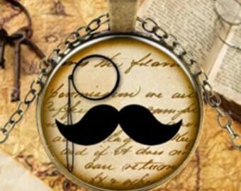 Mustache Monocle Pendant