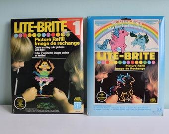 Vintage Lite-Brite Paper Refill, My Little Pony, Vintage Toys, 70's, 80's, Lite Brite Toy, 80's Toys, Paper Refill