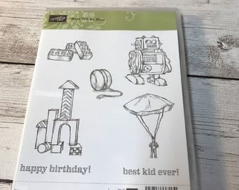 Stampin Up Boys will be Boys stamp set Retired