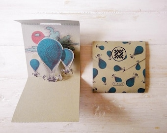 """Ticket pop up """"Balloon"""" an accomplishment of fine handcrafted stationery."""