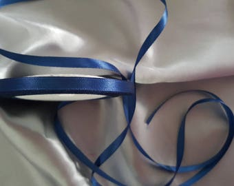 """Night blue"" satin ribbon"
