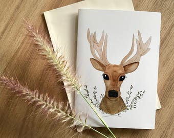 Daisy Deer - Christmas Card