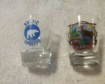 Set of Two Canada Shot Glasses