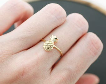 Pineapple adjustable ring, Pineapple Ring, Pineapple Jewelry, Pineapples ring, Fruit ring
