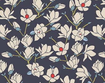 Fabric by the yard- Cotton quilting fabric Magnolia Nightfall -Amy Sinibaldi-- Art Gallery- quilting and sewing fabric- summery fun fabric