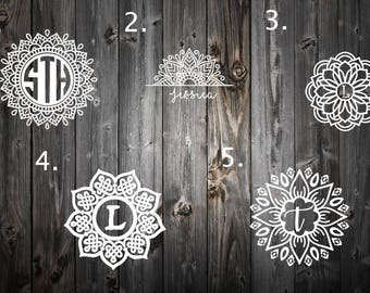 Mandala Decal For Yeti | Vinyl Decal Laptop | Decal for women | Flower Decal | Mandala Car Decal | Mandala Vinyl | Yeti Monogram Decal |